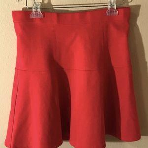 Madewell Sz 6 Red Fit Flare Mini Skirt 77388